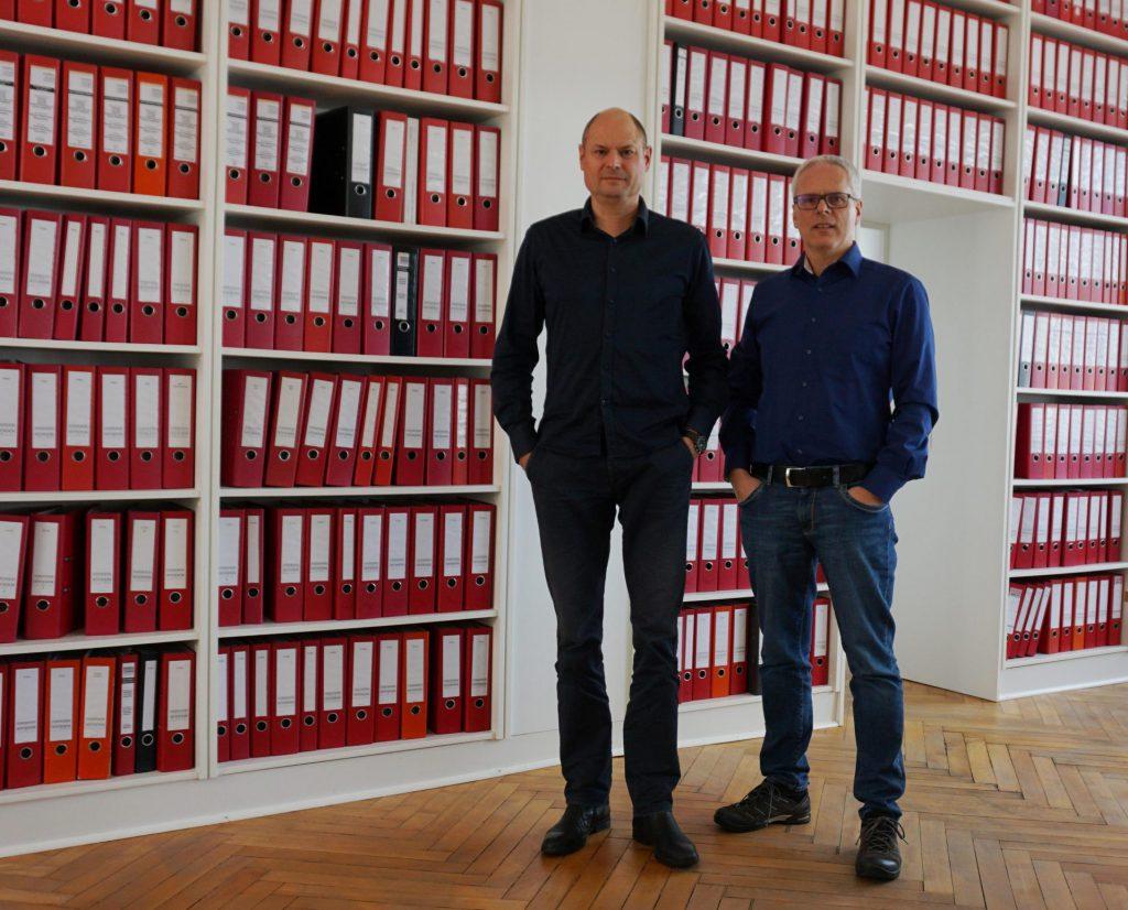 Geschäftsinhaber Joachim Sommer + Andreas Staab